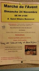 Marché de Noël à St Hilaire Bonneval
